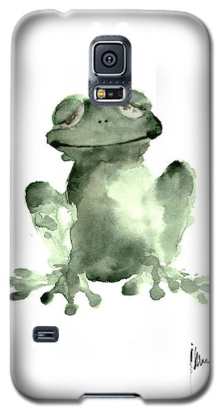 Frog Painting Watercolor Art Print Green Frog Large Poster Galaxy S5 Case