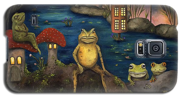 Frogland Galaxy S5 Case by Leah Saulnier The Painting Maniac