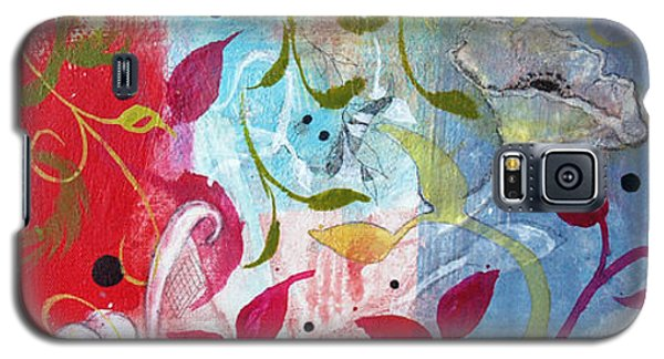 Galaxy S5 Case featuring the painting Frolic by Robin Maria Pedrero