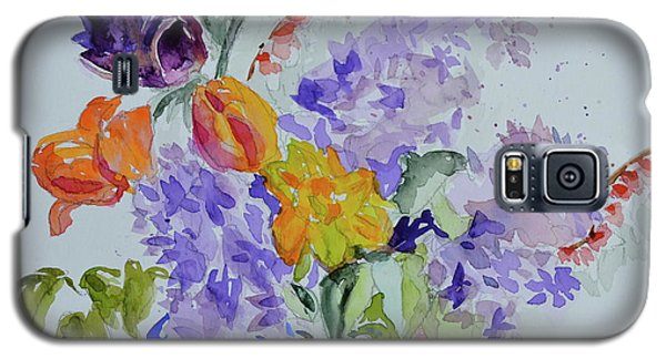 Galaxy S5 Case featuring the painting From Grammy's Garden by Beverley Harper Tinsley