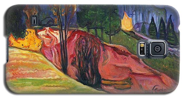 Galaxy S5 Case featuring the painting From Thuringewald by Edvard Munch