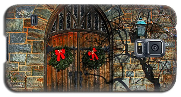 Front Door To Baldwin Memorial United Methodis Galaxy S5 Case by Andy Lawless
