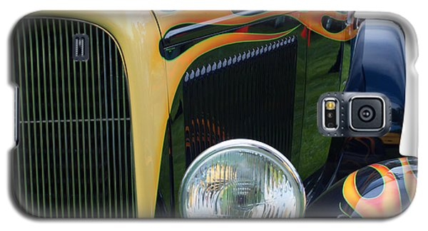 Galaxy S5 Case featuring the photograph Front Of Hot Rod Car by Gunter Nezhoda