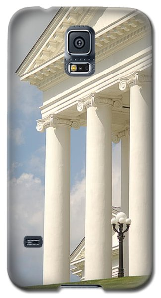 Galaxy S5 Case featuring the photograph Front Porch Of Virginia State Capitol Richmond Va by Suzanne Powers