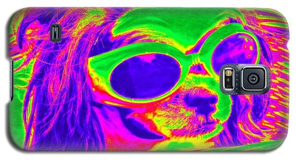 Front Seat Driver Pop Art - Puppy Mania Galaxy S5 Case by Ella Kaye Dickey