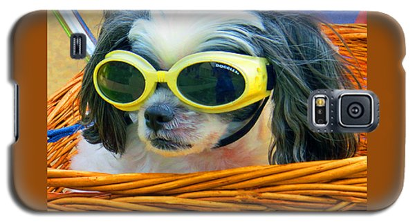 Galaxy S5 Case featuring the photograph Front Seat Driver - Puppy Mania by Ella Kaye Dickey