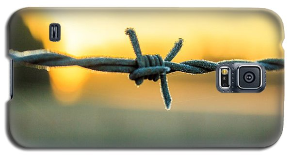 Frost On Barbed Wire At Sunrise Galaxy S5 Case