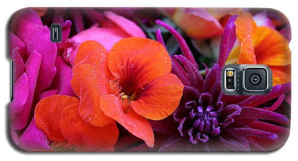 Galaxy S5 Case featuring the photograph Dewy Blooms by Jeanette French