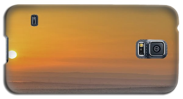 Frosty Ground And Sunset Galaxy S5 Case