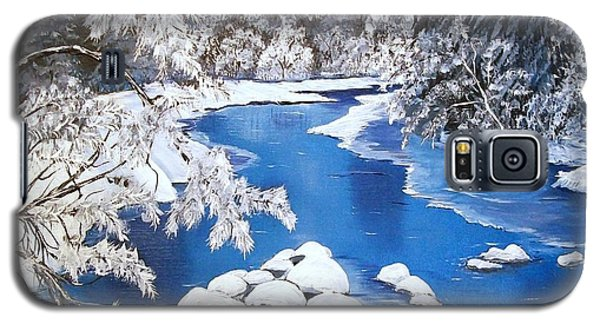 Galaxy S5 Case featuring the painting Frosty Morning by Sharon Duguay