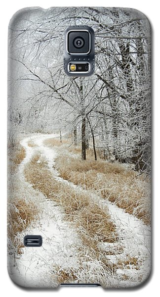 Galaxy S5 Case featuring the photograph Frosty Trail by Penny Meyers