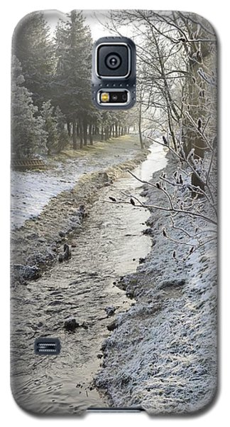 Galaxy S5 Case featuring the painting Frozen Air by Felicia Tica