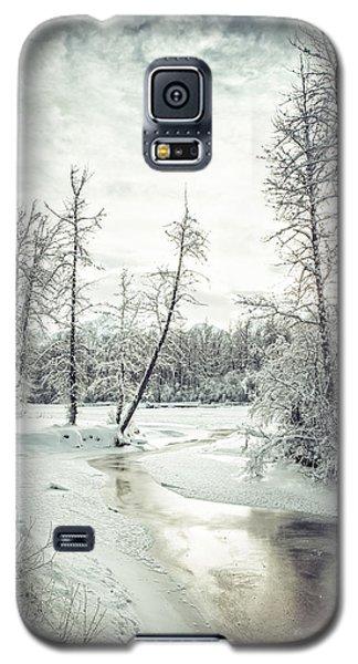 Frozen Creek At Sunset Galaxy S5 Case