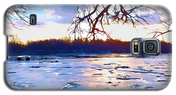 Frozen Delaware River Sunset Galaxy S5 Case