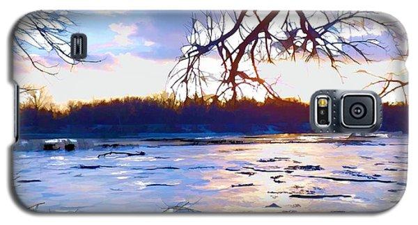 Frozen Delaware River Sunset Galaxy S5 Case