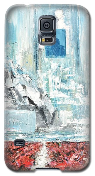 Galaxy S5 Case featuring the painting Frozen by Evelina Popilian