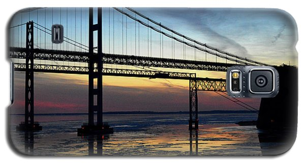 Galaxy S5 Case featuring the photograph Frozen Waters Under The Bay Bridge by Bill Swartwout
