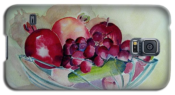 Galaxy S5 Case featuring the painting Fruit Bowl Still Life by Geeta Biswas
