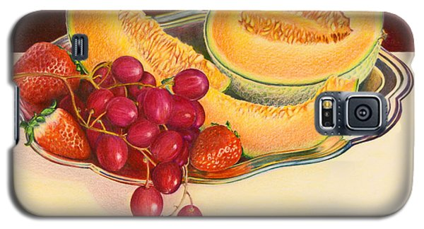 Galaxy S5 Case featuring the painting Fruit Platter by Mariarosa Rockefeller