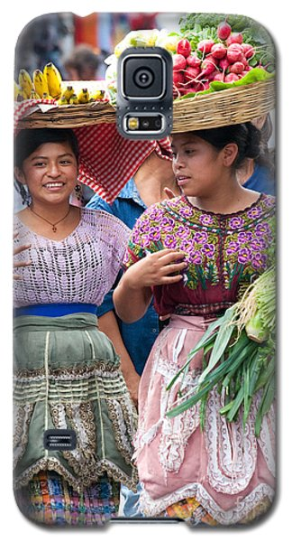 Fruit Sellers In Antigua Guatemala Galaxy S5 Case