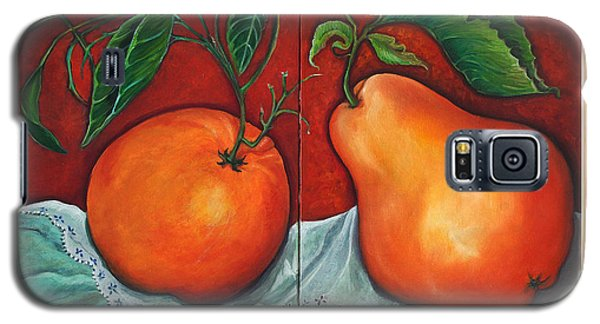 Galaxy S5 Case featuring the painting Fruits Pears by Yolanda Rodriguez