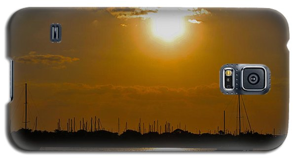 Galaxy S5 Case featuring the photograph Ft. Pierce Florida Docks At Dusk by Janice Rae Pariza