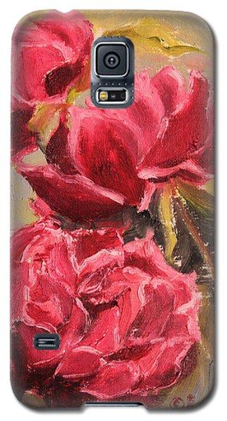 Fuchsia Peonies Galaxy S5 Case