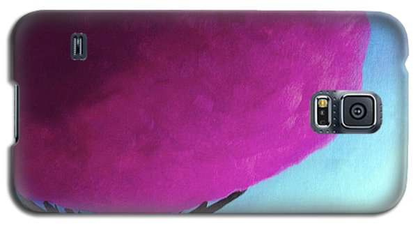 Galaxy S5 Case featuring the painting Fuchsia Tree by Anita Lewis