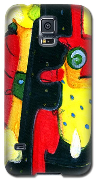Galaxy S5 Case featuring the painting Fuego by Stephen Lucas