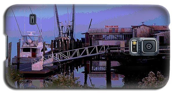 Galaxy S5 Case featuring the painting Old Brunswick Fuel Dock by Laura Ragland