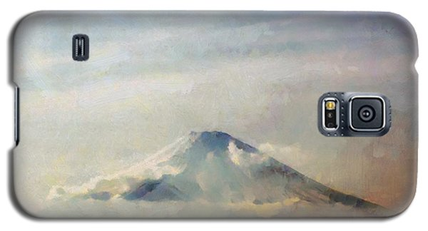 Galaxy S5 Case featuring the painting Fuji Among The Clouds by Kai Saarto