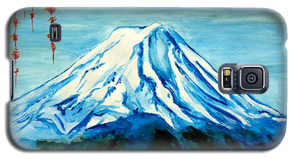 Galaxy S5 Case featuring the painting Fuji Mountain by Daniel Janda