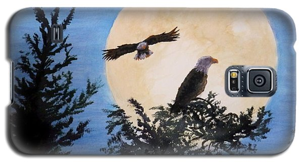 Full Moon Eagle Flight Galaxy S5 Case