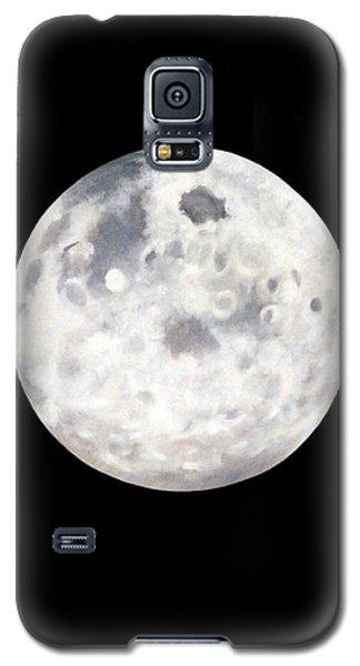 Full Moon In Black Night Galaxy S5 Case