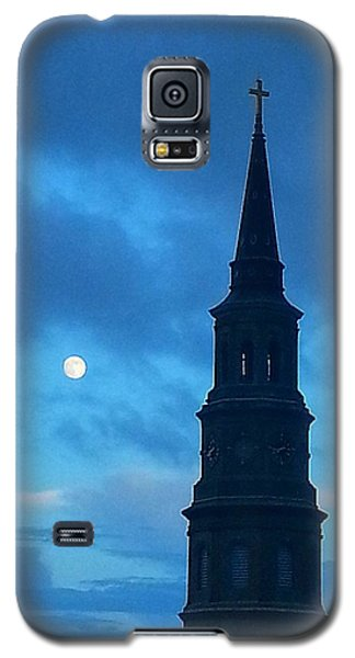 Galaxy S5 Case featuring the photograph Full Moon In The Holy City by Joetta Beauford