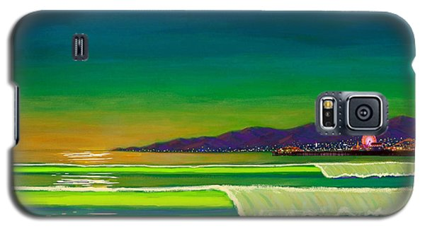 Venice Beach Galaxy S5 Case - Full Moon On Venice Beach by Frank Strasser