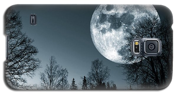Full Moon Over Dark Forest Galaxy S5 Case