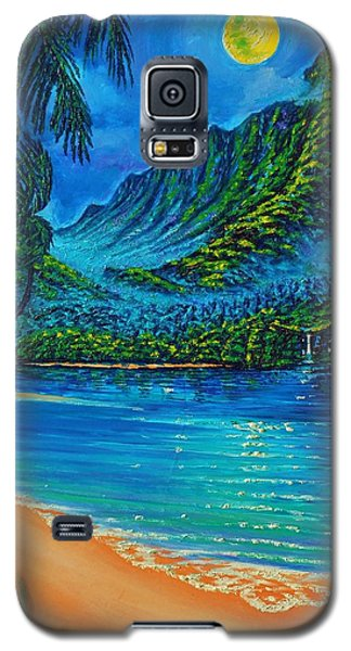 Full Moon Over Kahana Bay Galaxy S5 Case