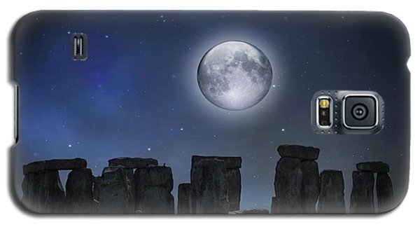 Full Moon Over Stonehenge Galaxy S5 Case