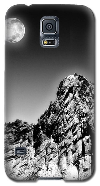 Full Moon Over The Suicide Rock Galaxy S5 Case
