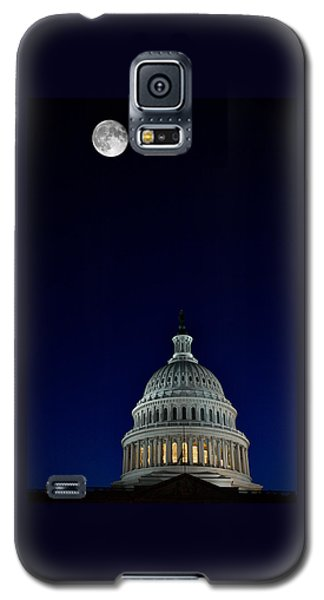 Full Moon Over Us Capitol Galaxy S5 Case