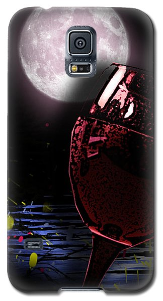 Galaxy S5 Case featuring the painting Full Moon by Persephone Artworks
