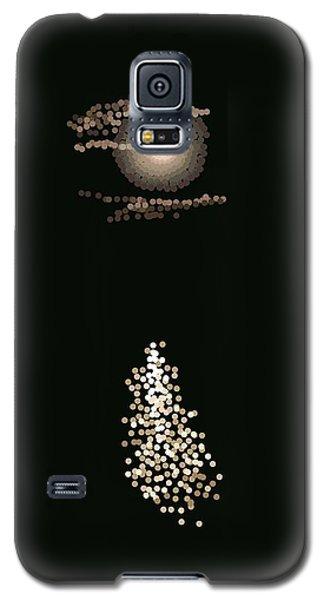 Full Moon Pointillism Galaxy S5 Case