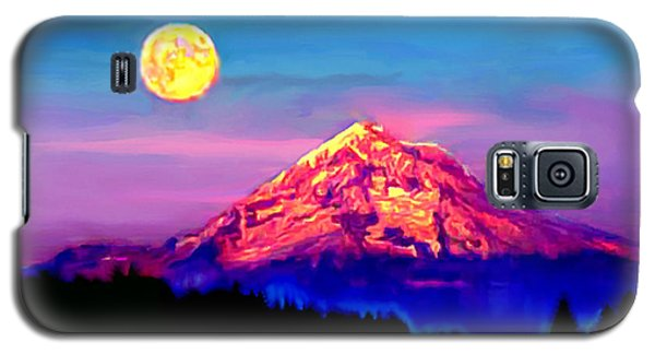 Full Moon Rising Over Mount Hood Oregon Galaxy S5 Case