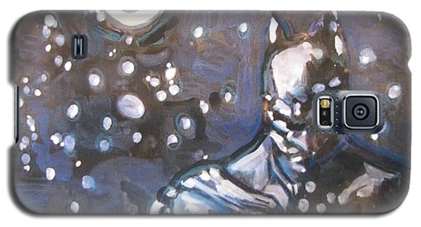 Galaxy S5 Case featuring the painting Full Moon by Vikram Singh