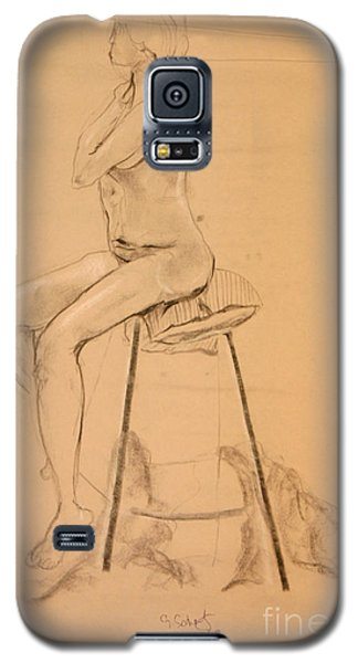 Galaxy S5 Case featuring the digital art Full Nude Profile by Gabrielle Schertz