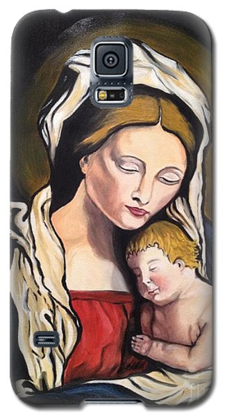 Galaxy S5 Case featuring the painting Full Of Grace by Brindha Naveen