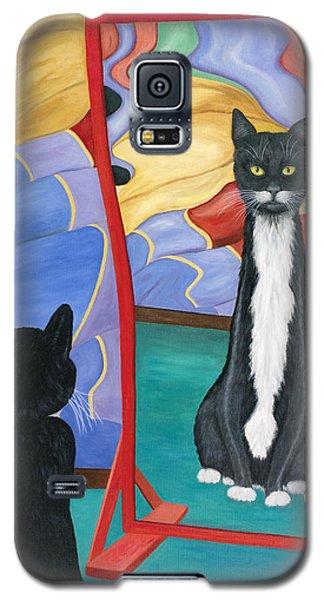 Fun House Skinny Cat Galaxy S5 Case