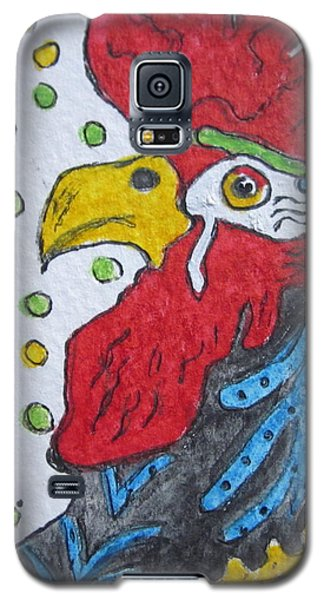Funky Cartoon Rooster Galaxy S5 Case by Kathy Marrs Chandler