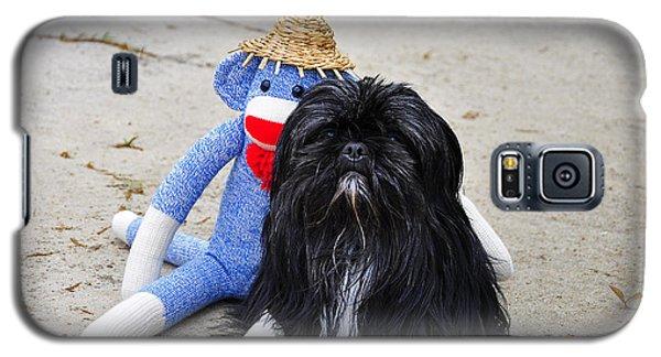 Funky Monkey And Sweet Shih Tzu Galaxy S5 Case